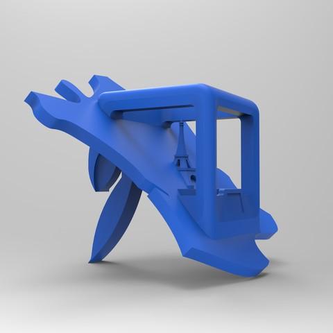rendu cote bleu.jpg Download free STL file Key ring or stratomaker figurine - printer located in France • 3D printer template, GuilhemPerroud
