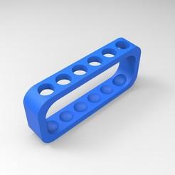 Imprimir en 3D soporte para tubos de ensayo 6 tubos (solución de escuela secundaria de arena), GuilhemPerroud