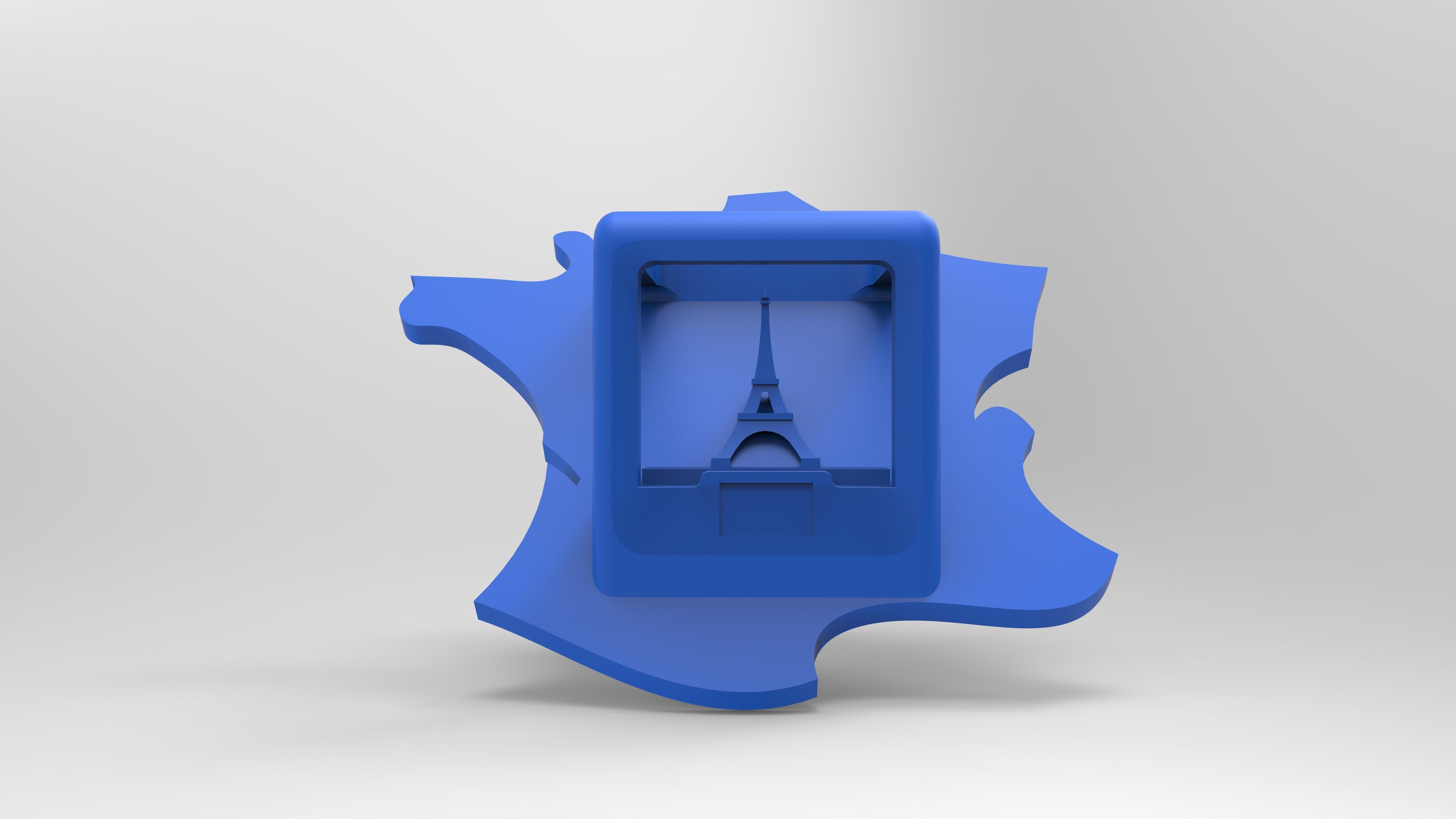 rendufacebleu.196.jpg Download free STL file Key ring or stratomaker figurine - printer located in France • 3D printer template, GuilhemPerroud