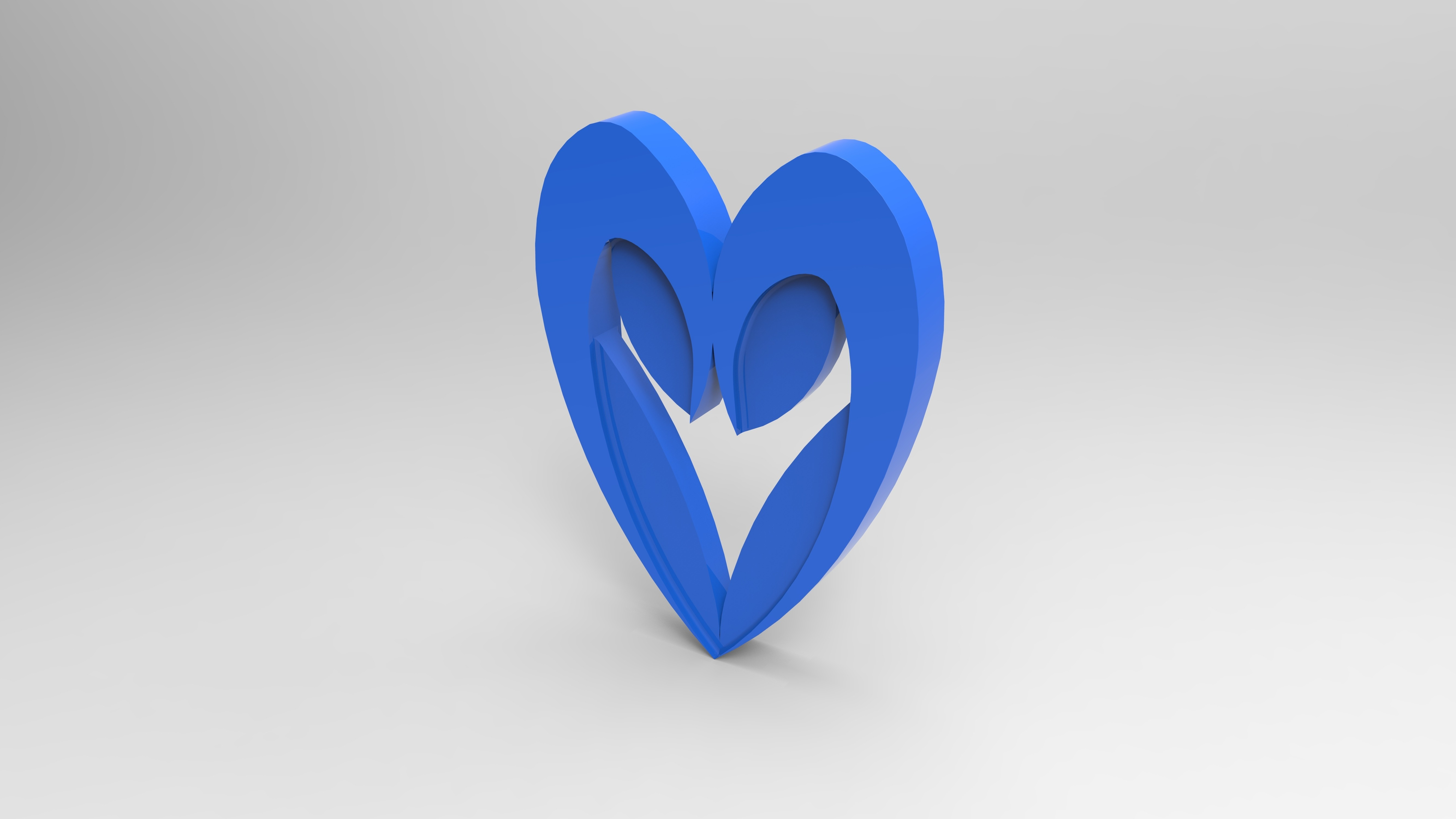 rendu simple bleu.160.jpg Download free STL file Heart from the stratomaker logo • 3D print object, GuilhemPerroud