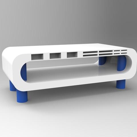 rendu essemble tablette oridi bleu.jpg Télécharger fichier STL Meuble pour ordinateur avec porte carte sd, micro sd et clef USB • Design imprimable en 3D, GuilhemPerroud