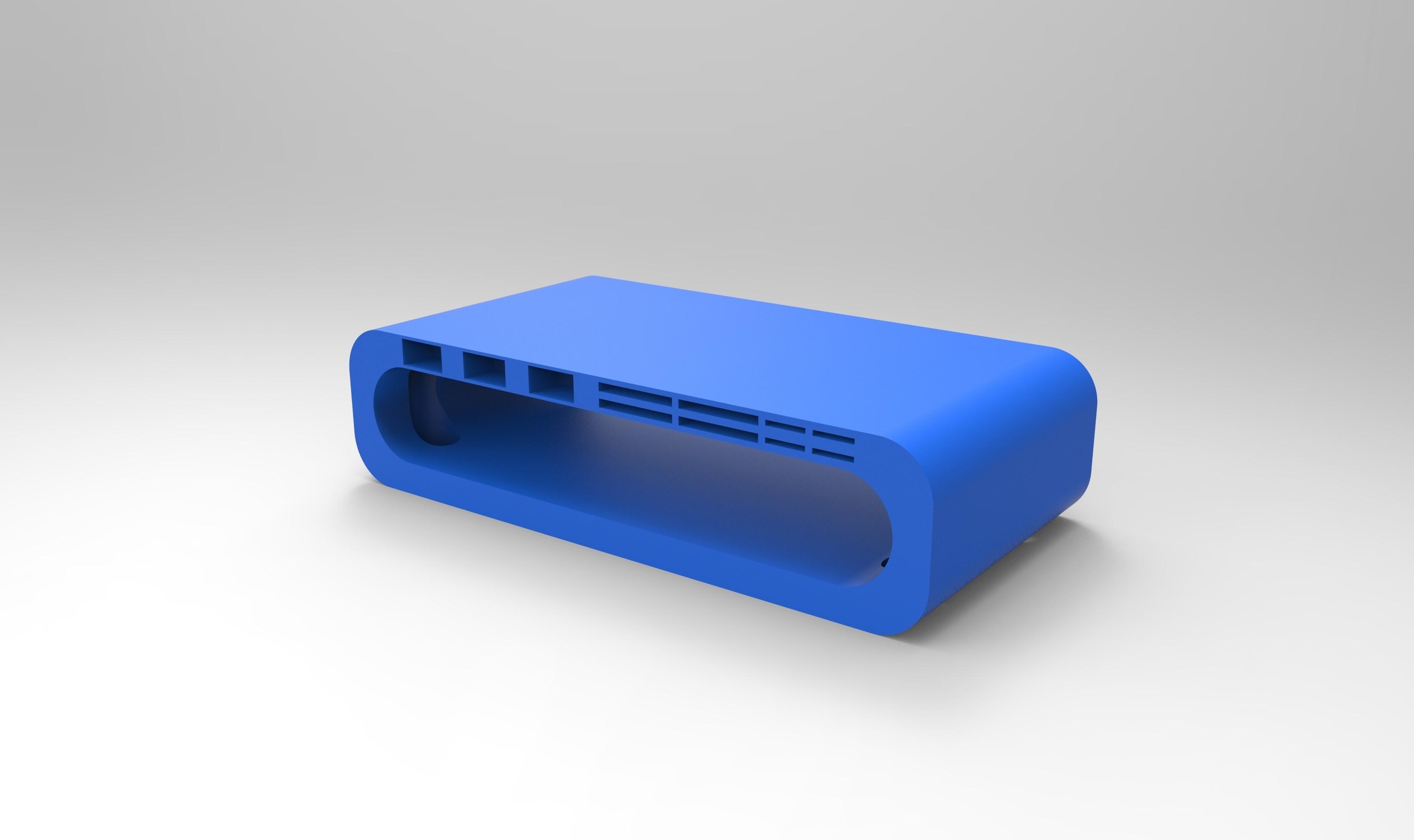 rendu bleu tablette ordi.jpg Télécharger fichier STL Meuble pour ordinateur avec porte carte sd, micro sd et clef USB • Design imprimable en 3D, GuilhemPerroud