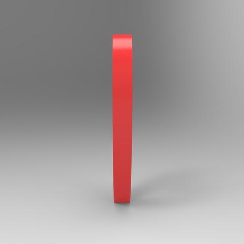 rendu simple rouge cote.159.jpg Download free STL file Heart from the stratomaker logo • 3D print object, GuilhemPerroud