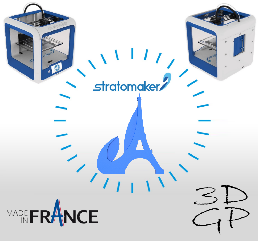 affiche.png Download free STL file Key ring or stratomaker figurine with tapered tower. • Model to 3D print, GuilhemPerroud