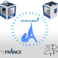 Free Keychain or stratomaker figurine with the effeil tower. 3D printer file, GuilhemPerroud