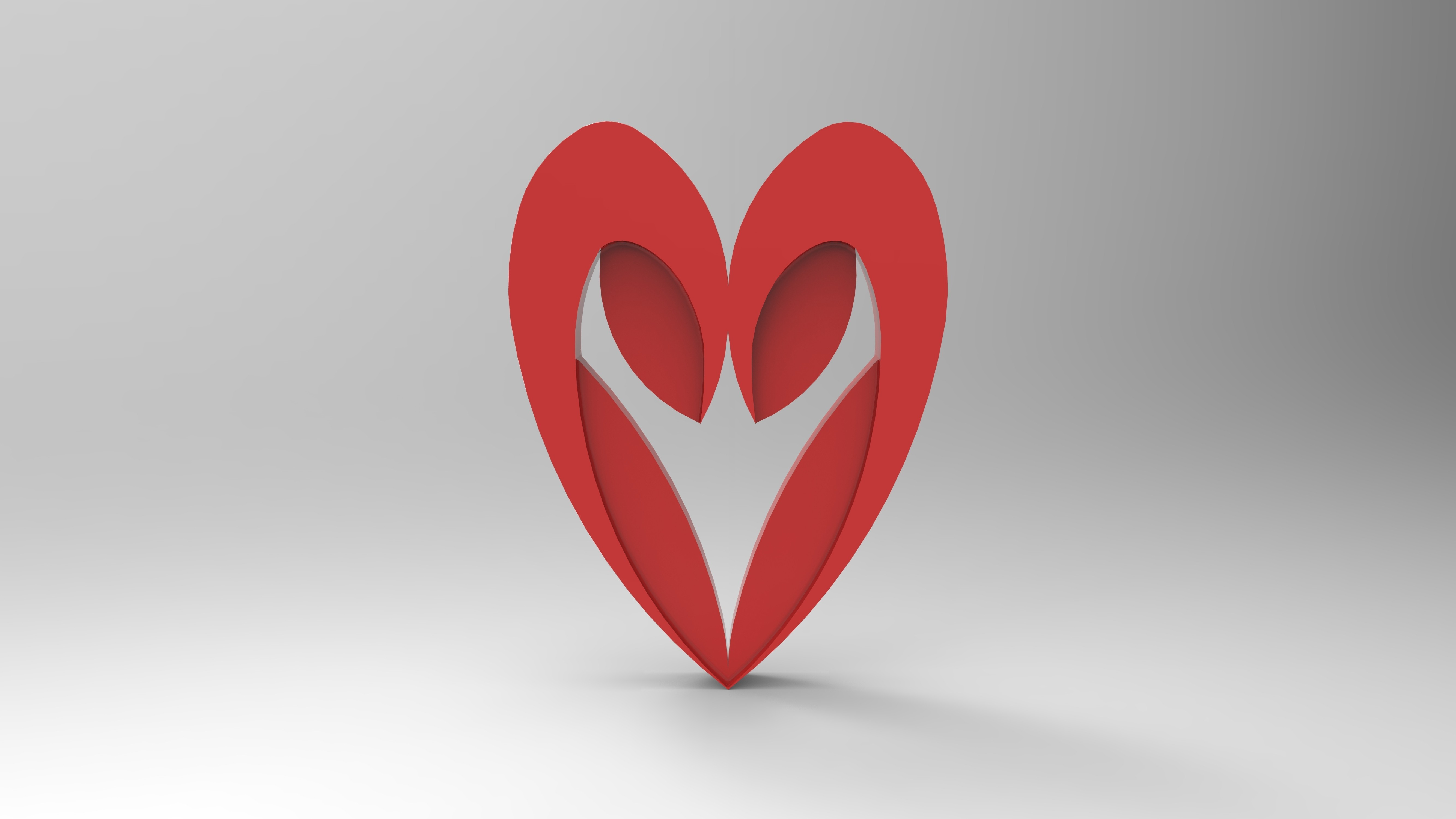 rendu simple rouge face.158.jpg Download free STL file Heart from the stratomaker logo • 3D print object, GuilhemPerroud