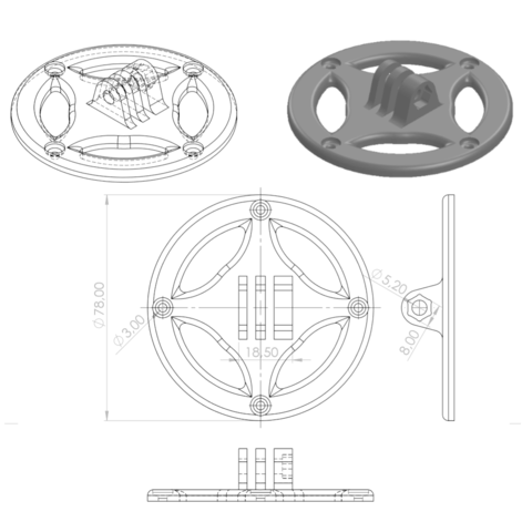 Sans titre.png Download free STL file gopro fixation • Design to 3D print, GuilhemPerroud