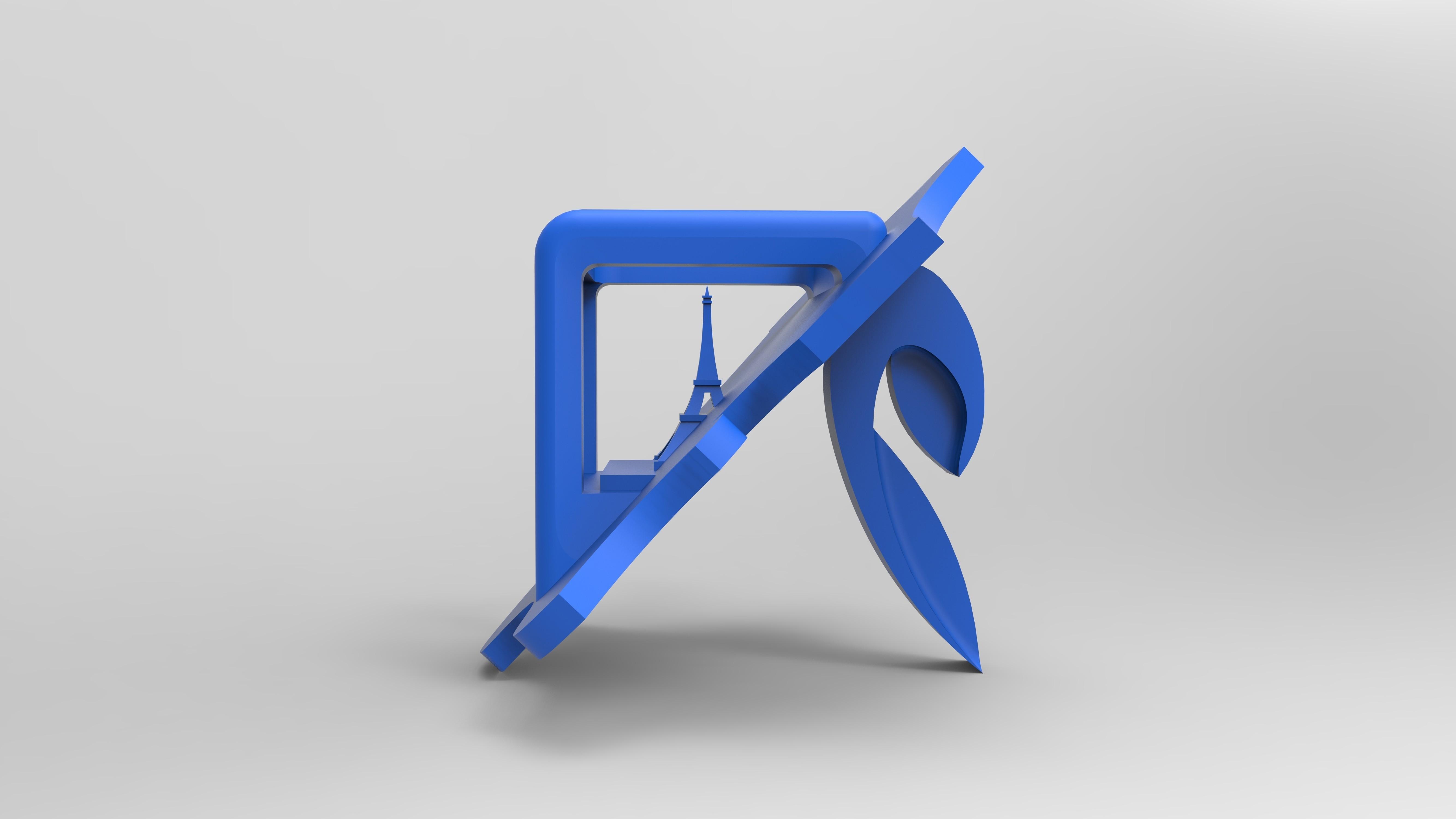 renducie droitebleu.197.jpg Download free STL file Key ring or stratomaker figurine - printer located in France • 3D printer template, GuilhemPerroud