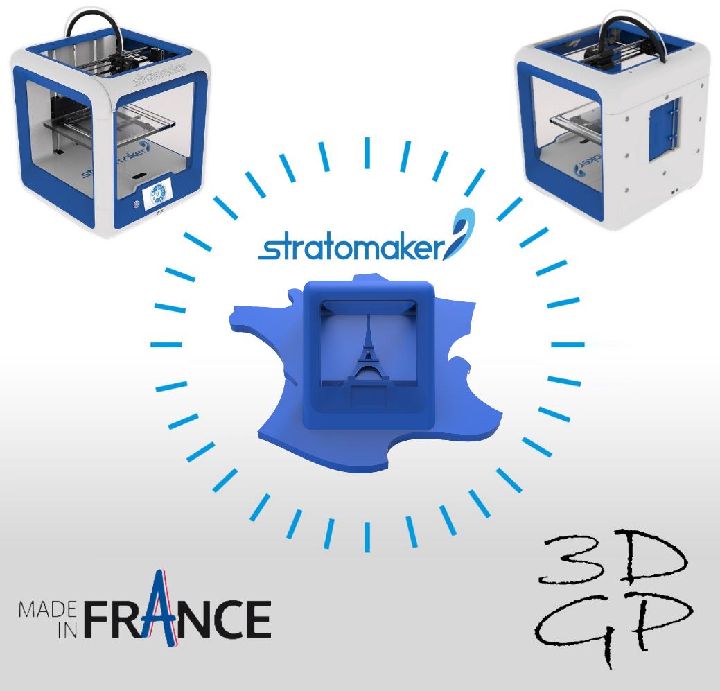 af.png Download free STL file Key ring or stratomaker figurine - printer located in France • 3D printer template, GuilhemPerroud