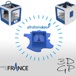 Download free 3D printer designs Key ring or stratomaker figurine - printer located in France, GuilhemPerroud