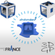 Free Keychain or figurine stratomaker - printer located in France 3D printer file, GuilhemPerroud
