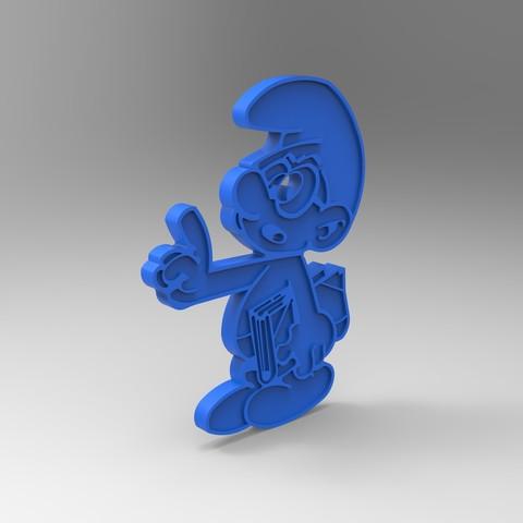 rendu plastique bleu.jpg Télécharger fichier STL gratuit schtroumpfs a lunette smurf payo (figurine, porte clef) • Modèle pour impression 3D, GuilhemPerroud