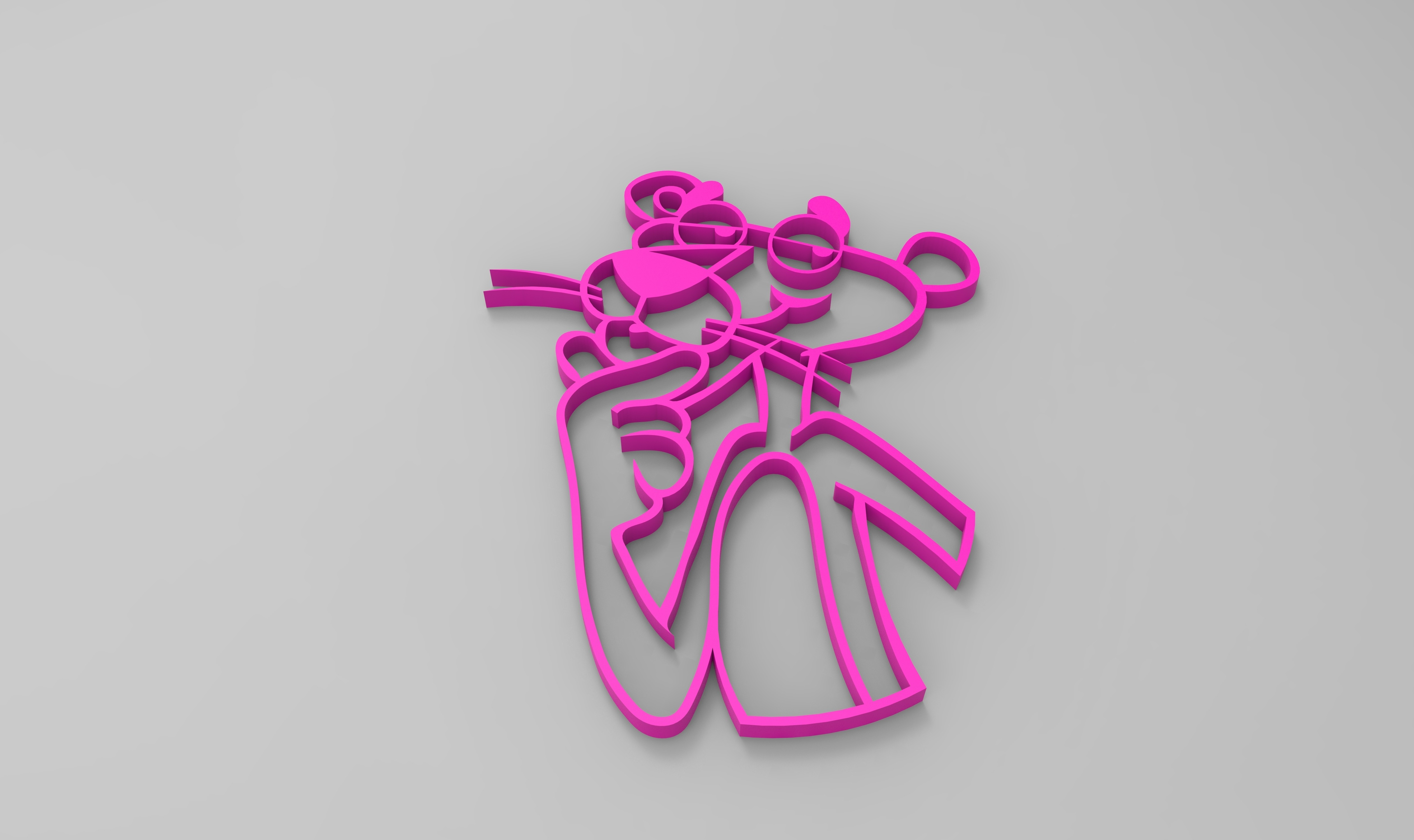rendu panthere rose.jpg Download STL file pink panther • 3D print model, GuilhemPerroud