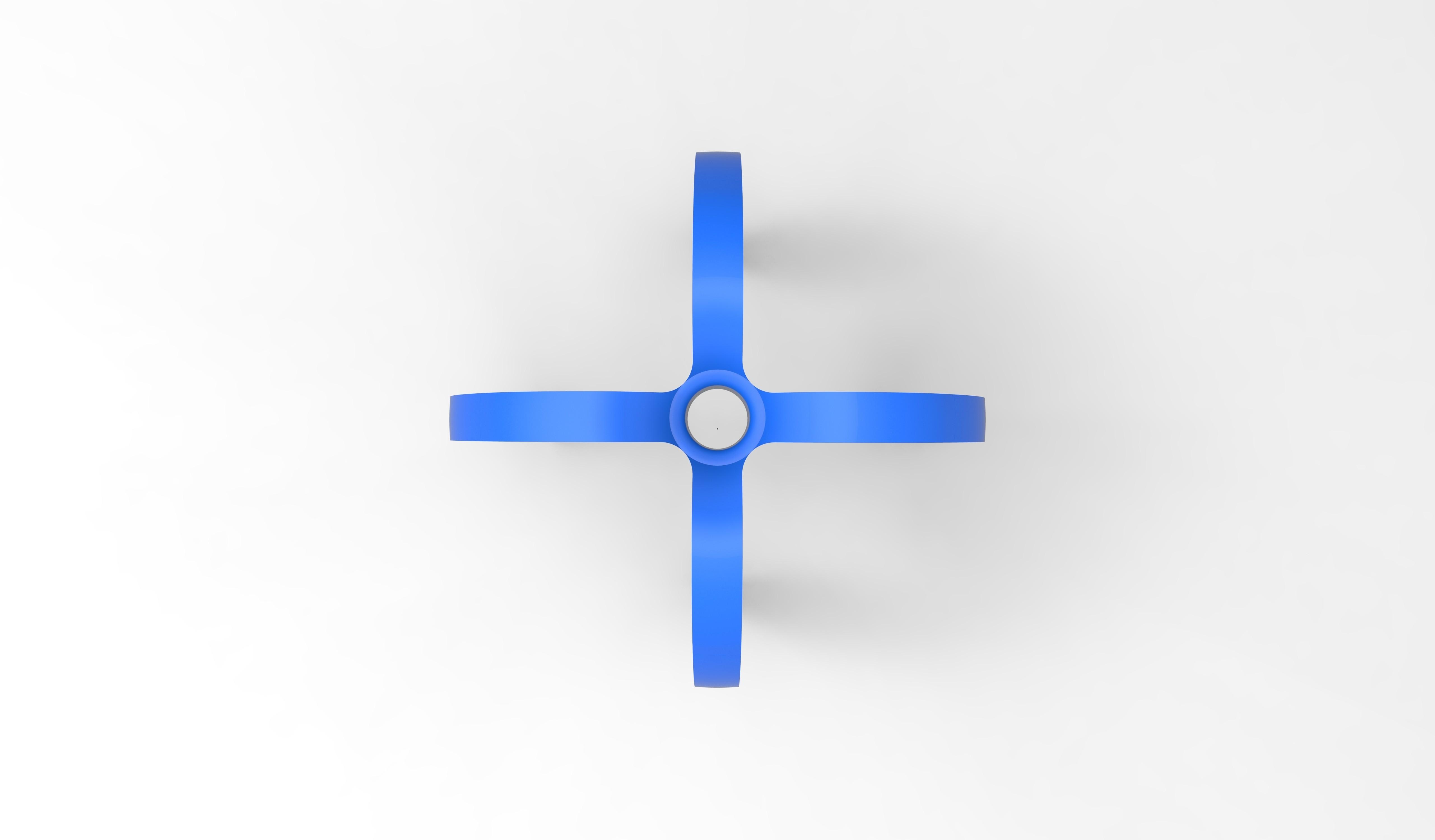 porte crayon bleu dessus .179.jpg Télécharger fichier STL gratuit porte crayon composé de 4 logos STRATOMAKER • Modèle pour imprimante 3D, GuilhemPerroud