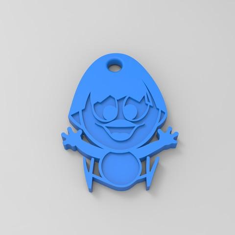 rendu calimero bleu.jpg Download STL file Calimero • 3D printing template, GuilhemPerroud