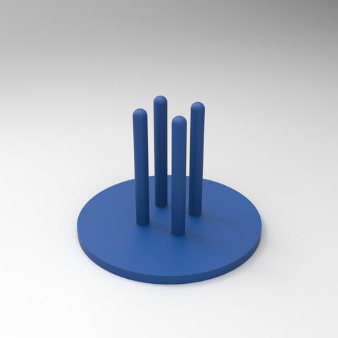 rendu socle.jpg Download free STL file Cup mats • 3D print design, GuilhemPerroud
