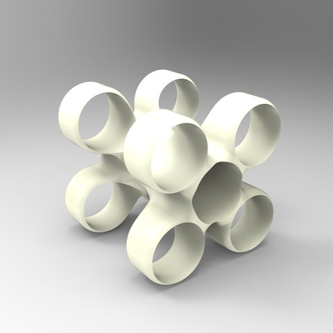 rendu vin blanc.jpg Download free STL file Storage unit for wine bottles • 3D printable design, GuilhemPerroud
