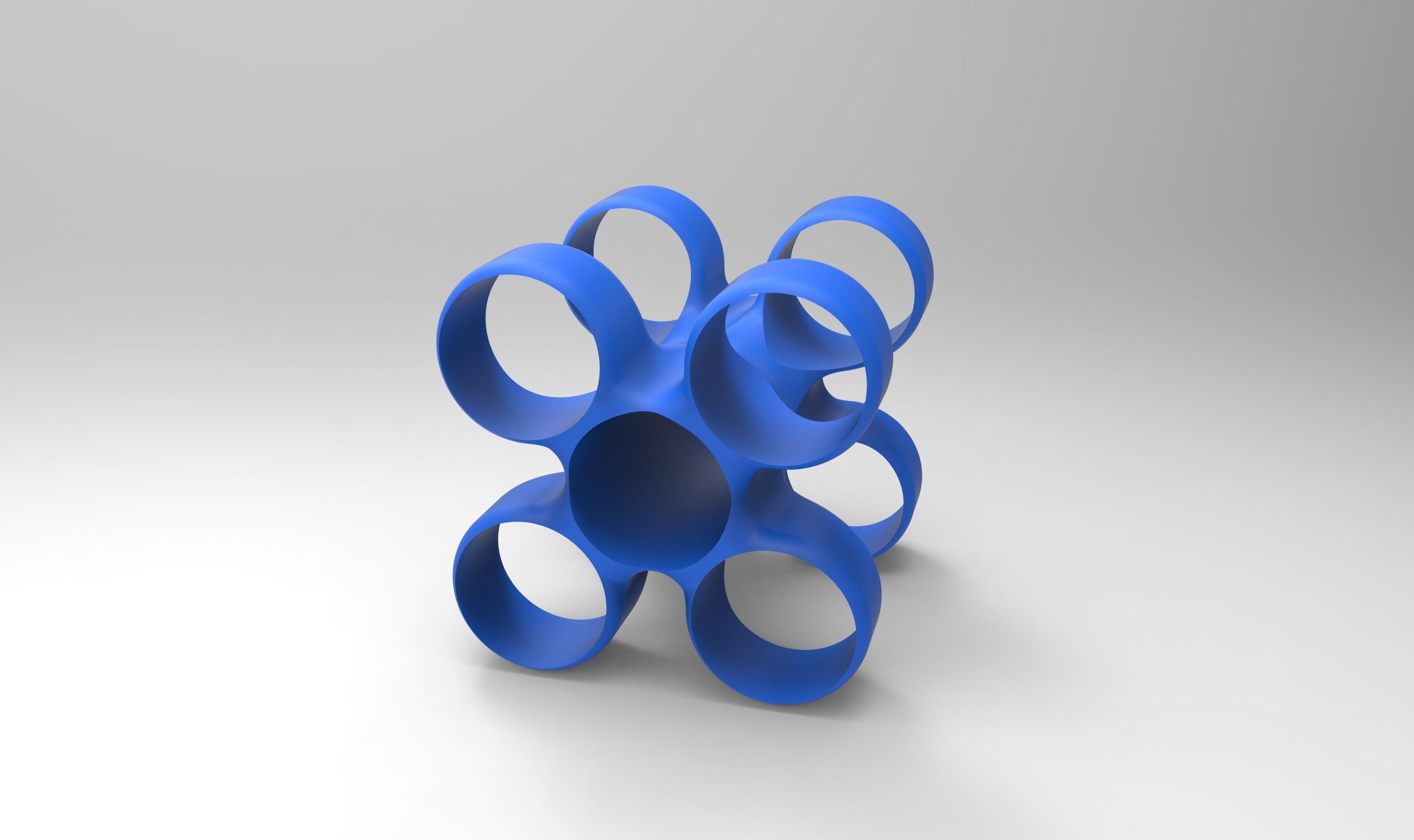 rendu vin bleu.jpg Download free STL file Storage unit for wine bottles • 3D printable design, GuilhemPerroud