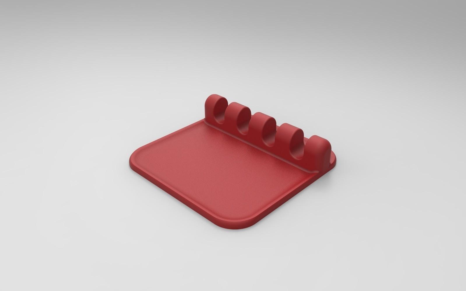 rendu vert face.10.jpg Download free STL file SUPPORT & REST Kitchen utensils • Template to 3D print, GuilhemPerroud