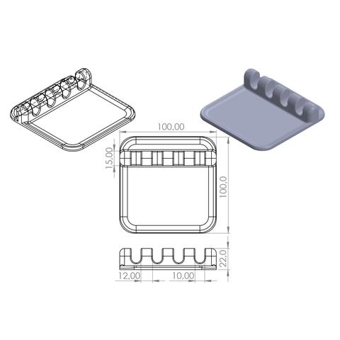 plan.png Download free STL file SUPPORT & REST Kitchen utensils • Template to 3D print, GuilhemPerroud
