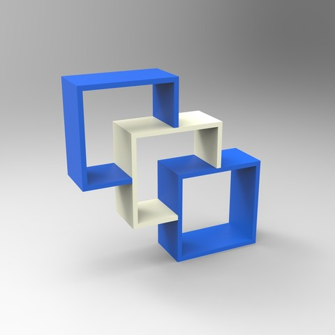 Free Custom designed shelf 3D model, GuilhemPe07