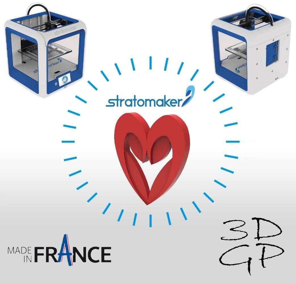 affiche carre petite.jpg Download free STL file Heart from the stratomaker logo • 3D print object, GuilhemPerroud