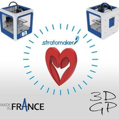 Download free STL file Heart from the stratomaker logo, GuilhemPerroud