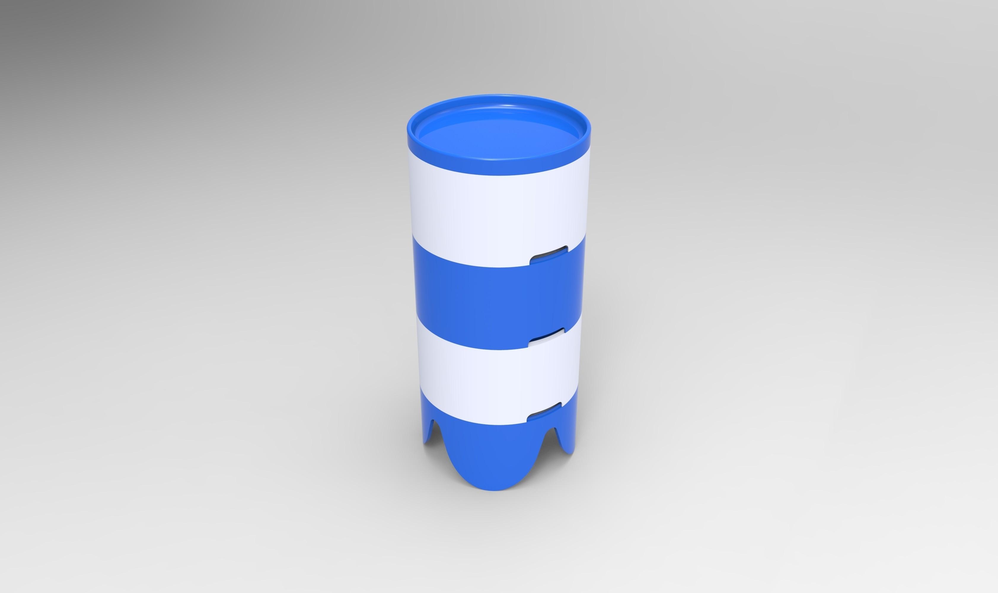 rendu total.jpg Download STL file Storage box, bedside table, custom furniture • 3D print design, GuilhemPerroud