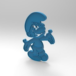 Free 3D printer files smurfs figurine/ key ring (smurf) Peyo, GuilhemPerroud