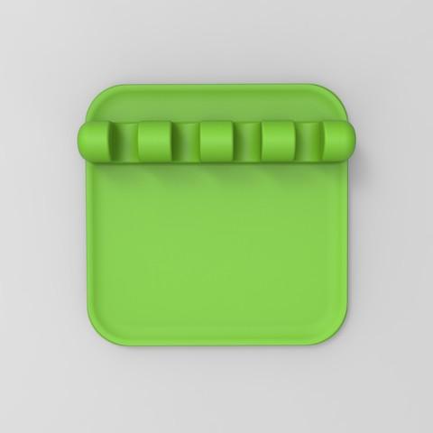 rendu vert face.9.jpg Download free STL file SUPPORT & REST Kitchen utensils • Template to 3D print, GuilhemPerroud