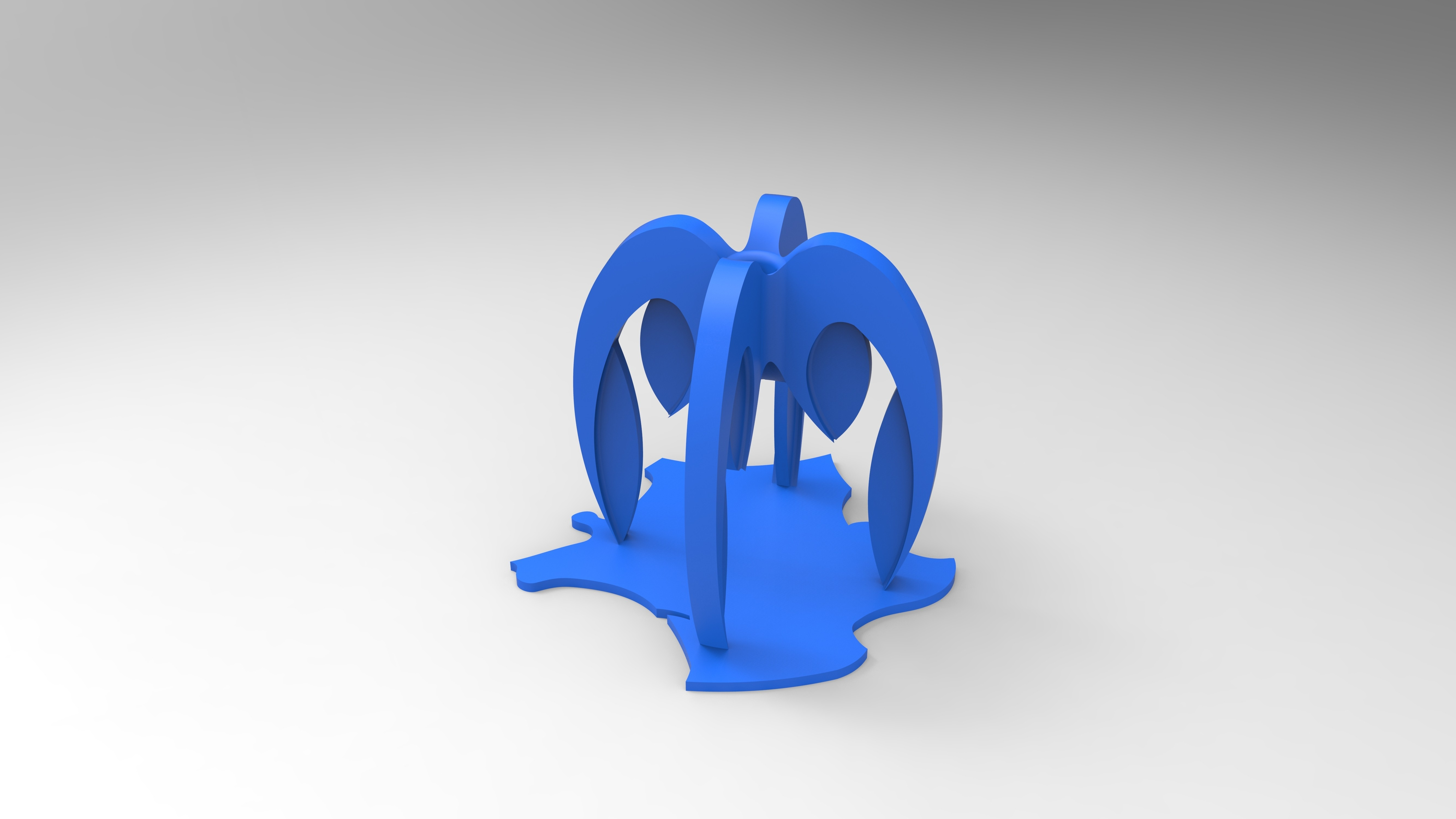 rendu bleu porte crayon sur la france.jpg Download free STL file Pencil holder composed of 4 STRATOMAKER logos implanted in France • Design to 3D print, GuilhemPerroud