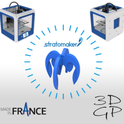 Download free 3D printer files pencil holder with 4 STRATOMAKER logos, GuilhemPerroud