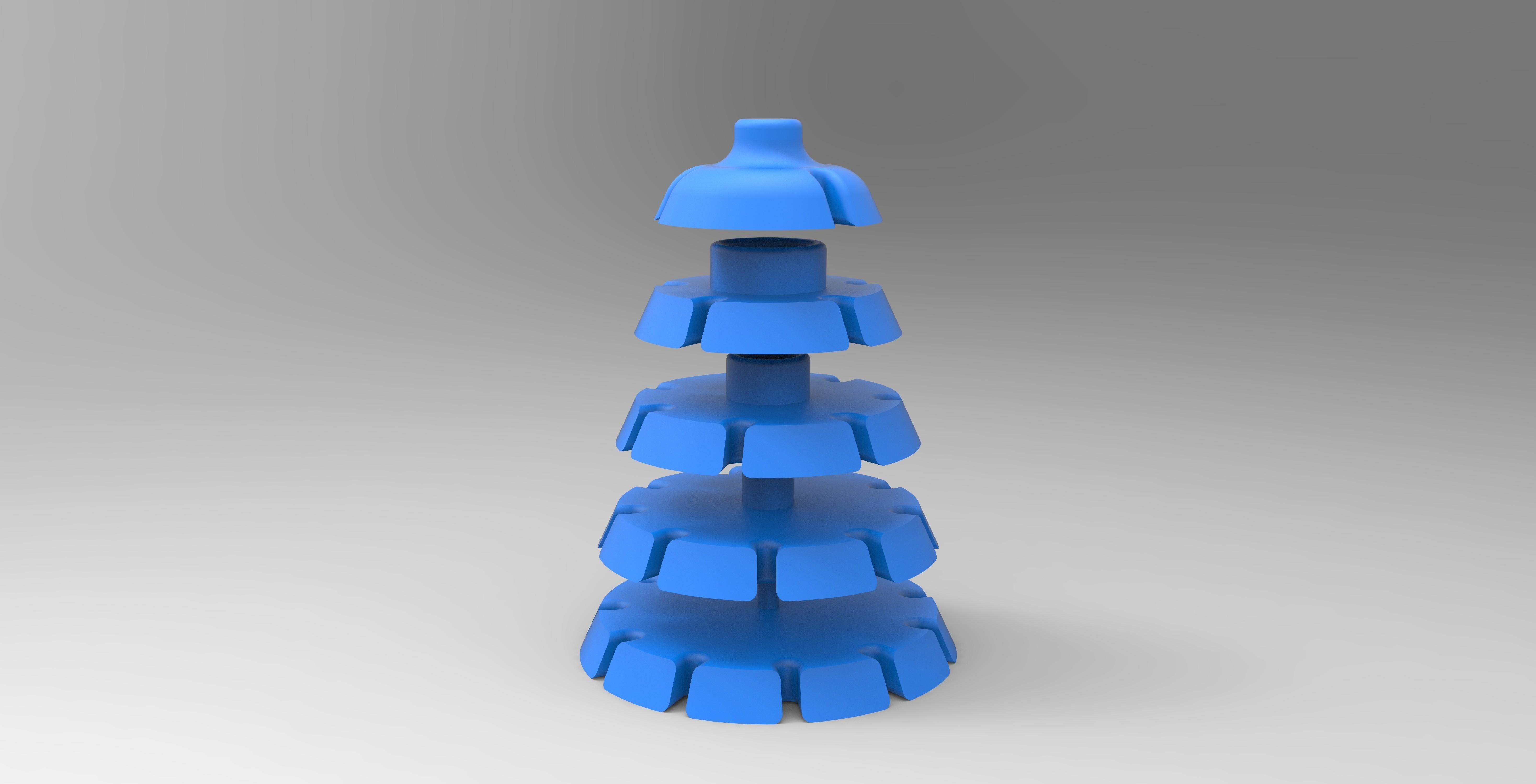s.jpg Download STL file HELP CUTTING CAKE PART CUTTING • 3D printer object, GuilhemPerroud