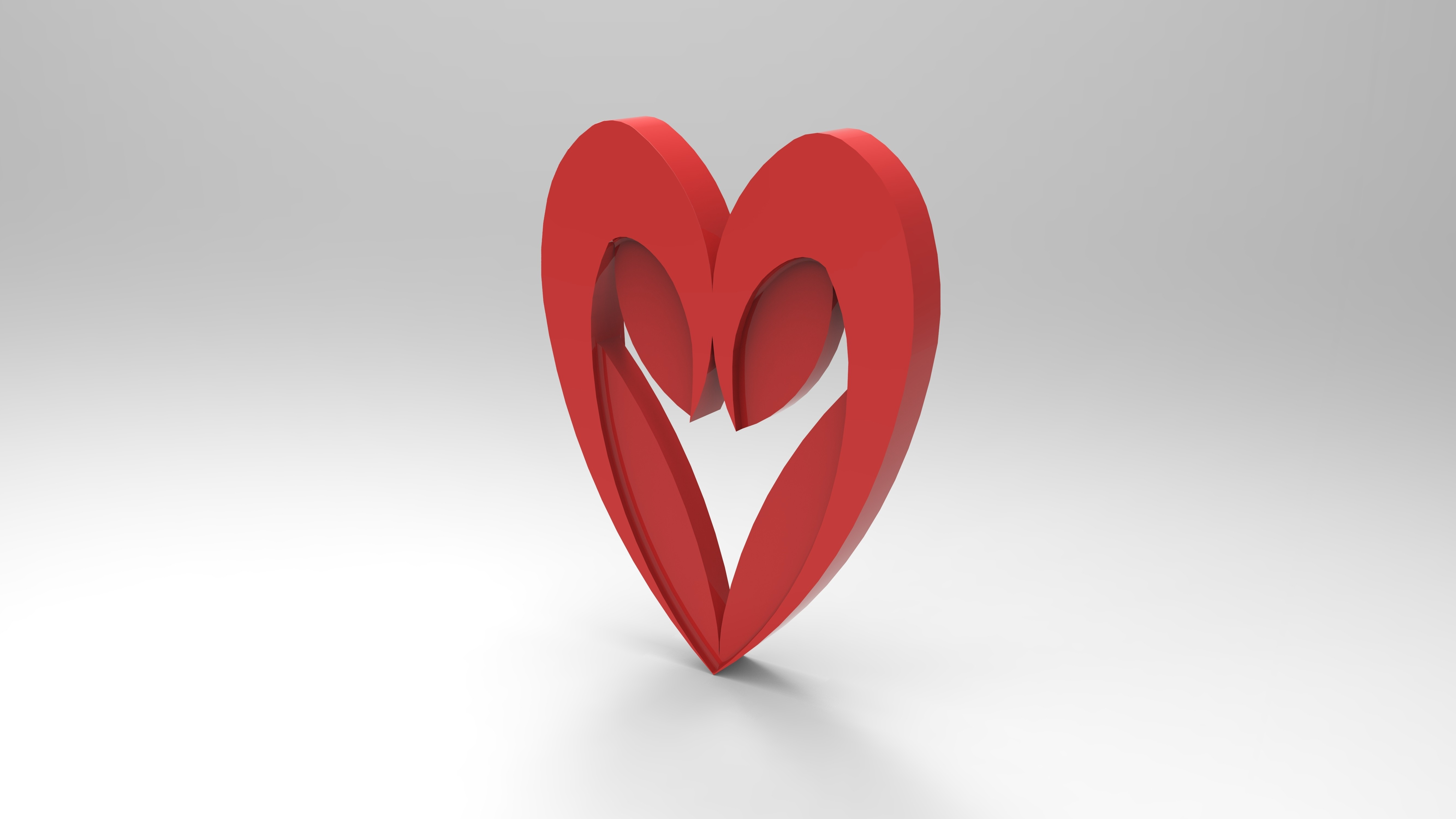 rendu simple rouge.157.jpg Download free STL file Heart from the stratomaker logo • 3D print object, GuilhemPerroud