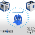 Download free 3D printing designs Pencil holder composed of 4 STRATOMAKER logos implanted in France, GuilhemPerroud