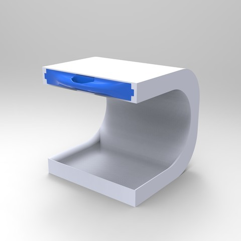 Download STL file Bedside table storage unit to put a lamp and store your keys • 3D printer template, GuilhemPerroud