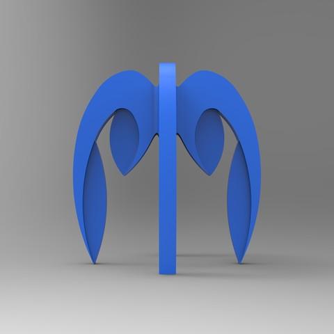 porte crayon bleu cote .178.jpg Télécharger fichier STL gratuit porte crayon composé de 4 logos STRATOMAKER • Modèle pour imprimante 3D, GuilhemPerroud