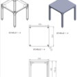 Free 3D printer file Small table that can be transformed into a custom shelf, GuilhemPerroud