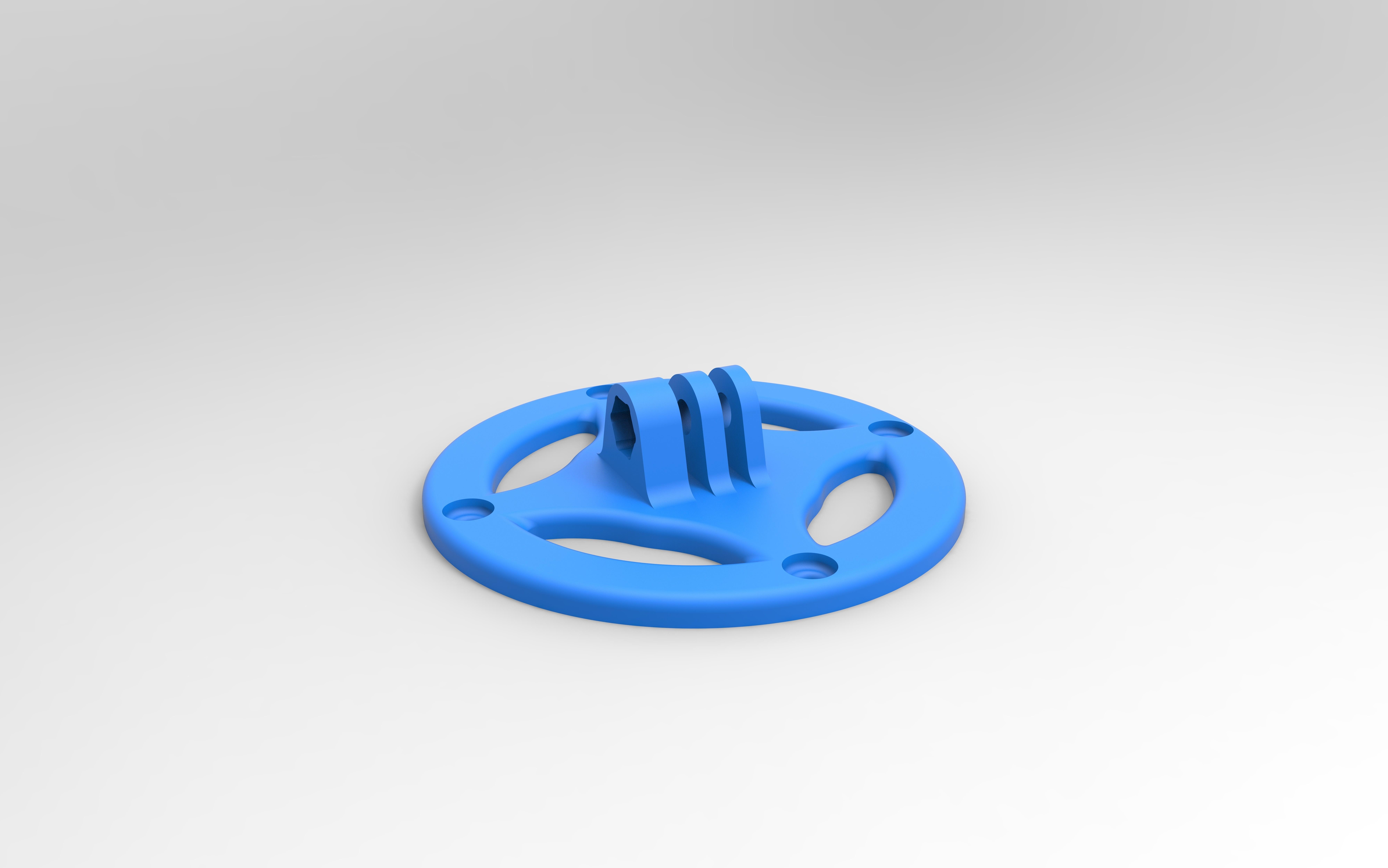rendu gopro bleu.jpg Download free STL file gopro fixation • Design to 3D print, GuilhemPerroud