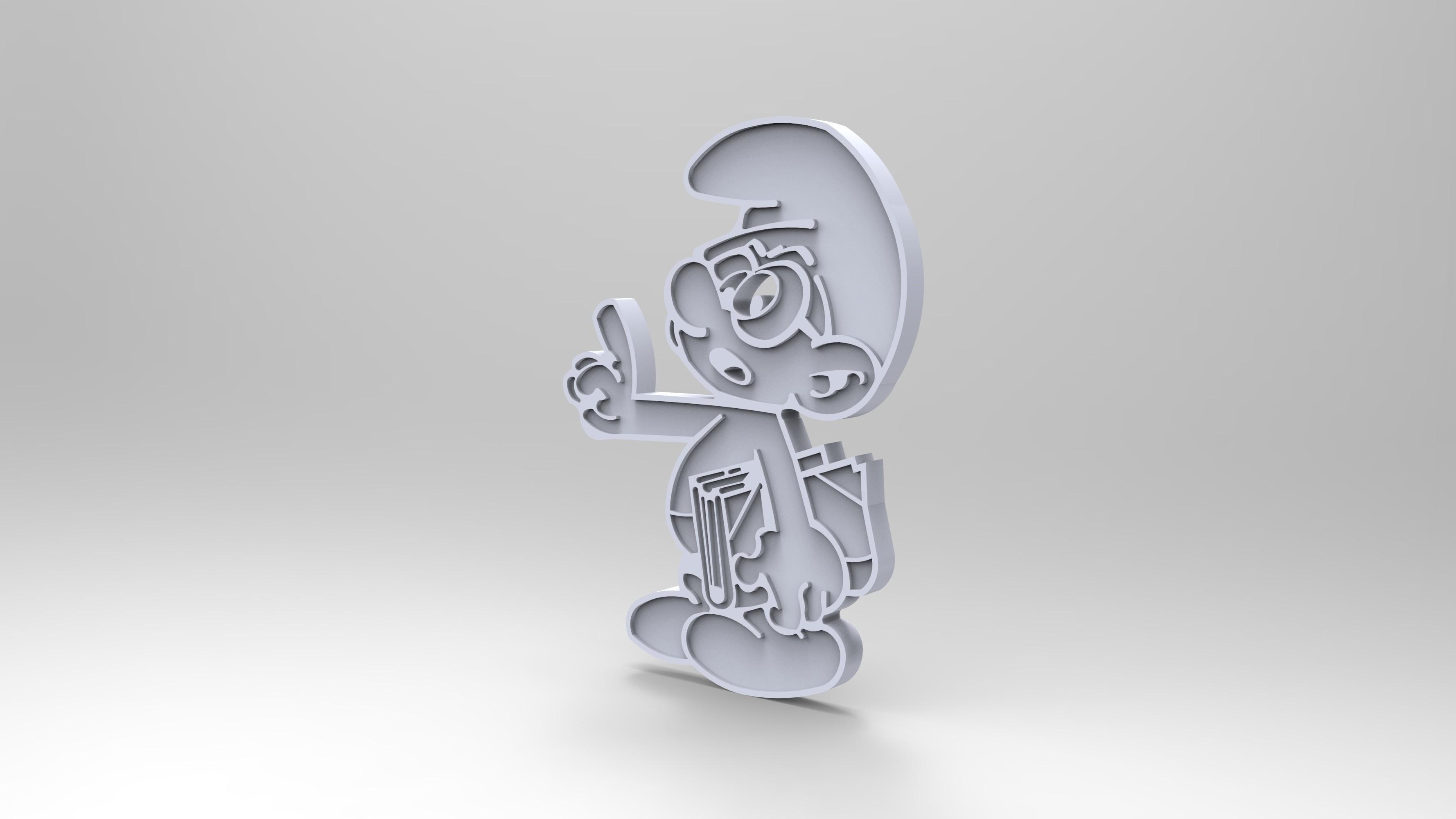 rendu plastique blan.jpg Télécharger fichier STL gratuit schtroumpfs a lunette smurf payo (figurine, porte clef) • Modèle pour impression 3D, GuilhemPerroud