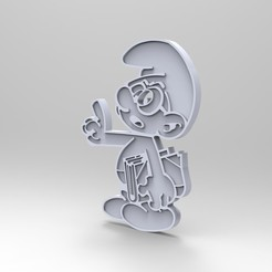 Free 3D printer files smurf payo smurf bezel smurfs (figurine, key ring), GuilhemPerroud