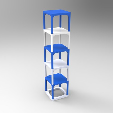 Free 3d model Small table that can be transformed into a custom shelf, GuilhemPerroud