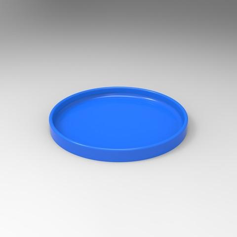 rendu couvercle bleu.jpg Download STL file Storage box, bedside table, custom furniture • 3D print design, GuilhemPerroud