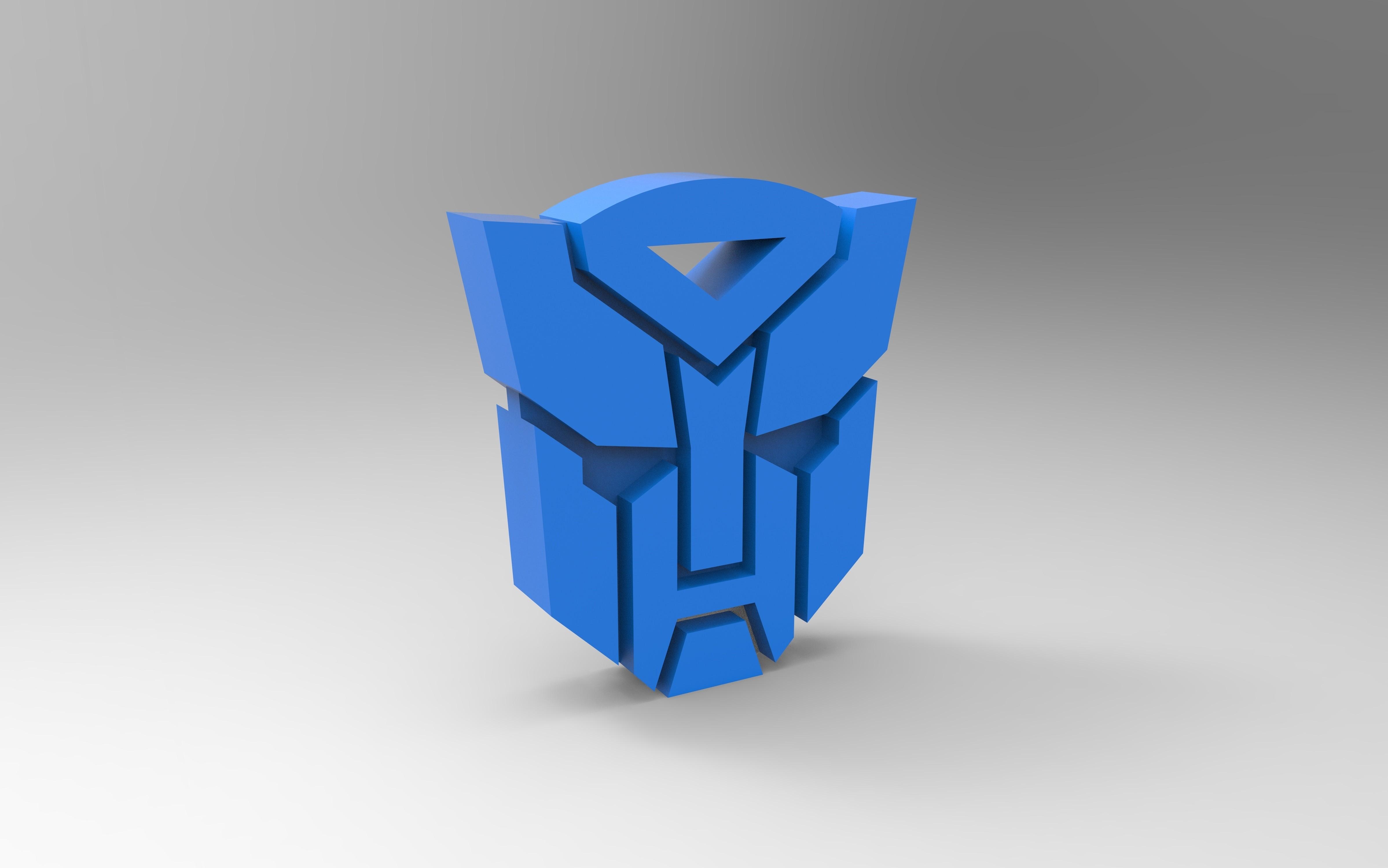 rendu b.jpg Download free STL file Transformers logo • 3D printer template, GuilhemPerroud