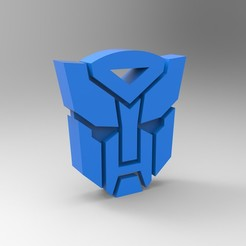 Free 3D printer designs Transformers logo, GuilhemPerroud