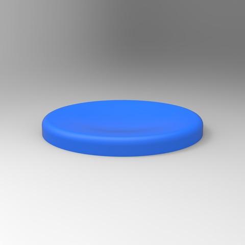 rendu bleu soucoupe.jpg Télécharger fichier STL gratuit Support & Repose Cuillère  • Objet pour impression 3D, GuilhemPerroud