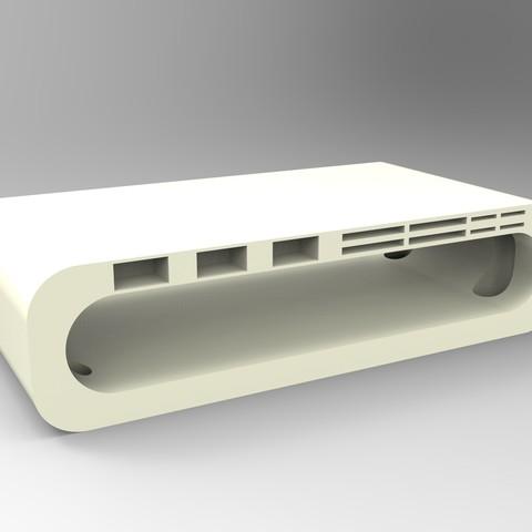 rendu blanc tablette ordi.jpg Télécharger fichier STL Meuble pour ordinateur avec porte carte sd, micro sd et clef USB • Design imprimable en 3D, GuilhemPerroud