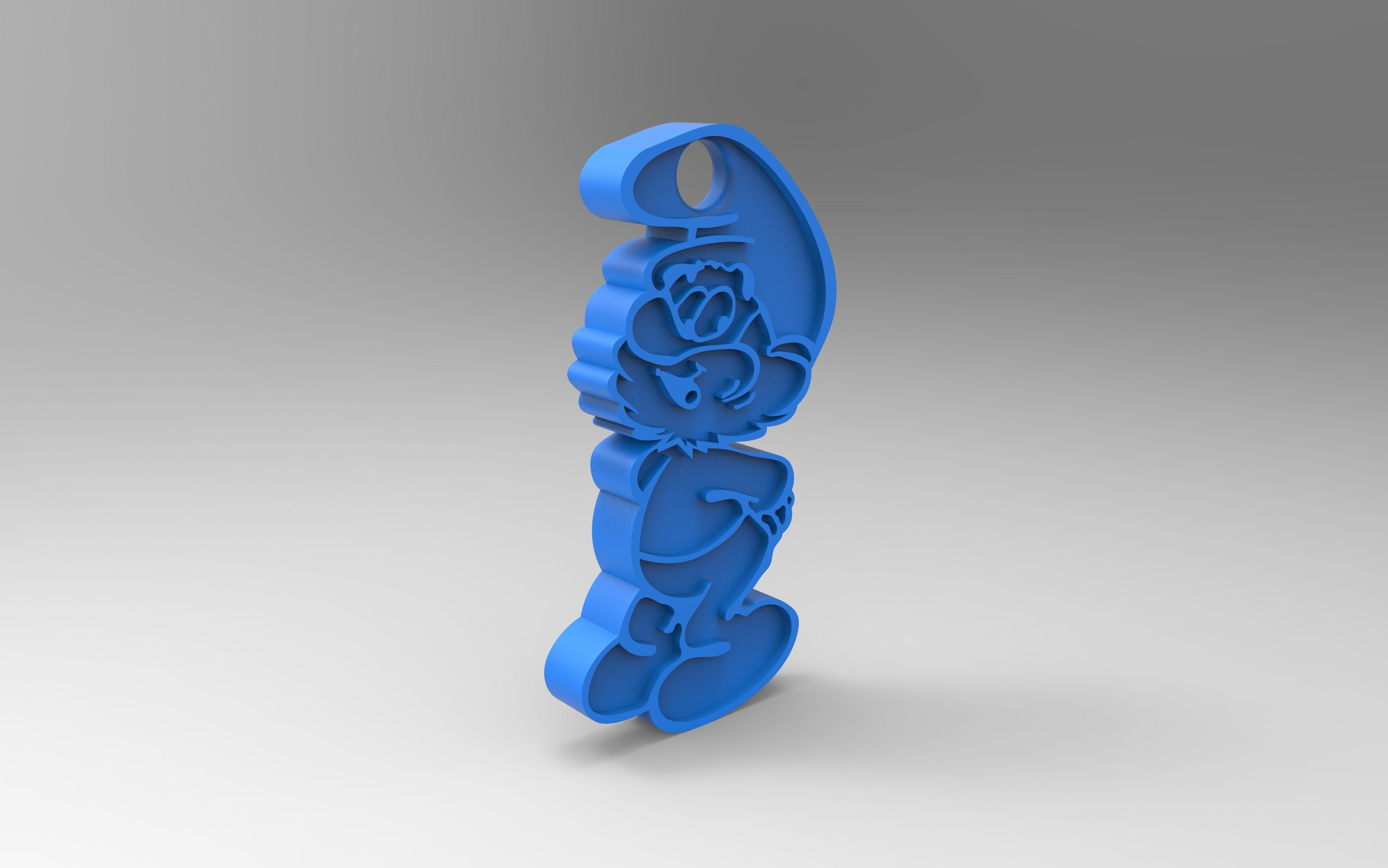 rendu face.jpg Download free STL file Key ring • 3D printer model, GuilhemPerroud