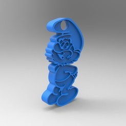 rendu face.jpg Download free STL file Key ring • 3D printer model, GuilhemPerroud