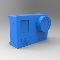 Free 3D printer designs GoPro, GuilhemPerroud
